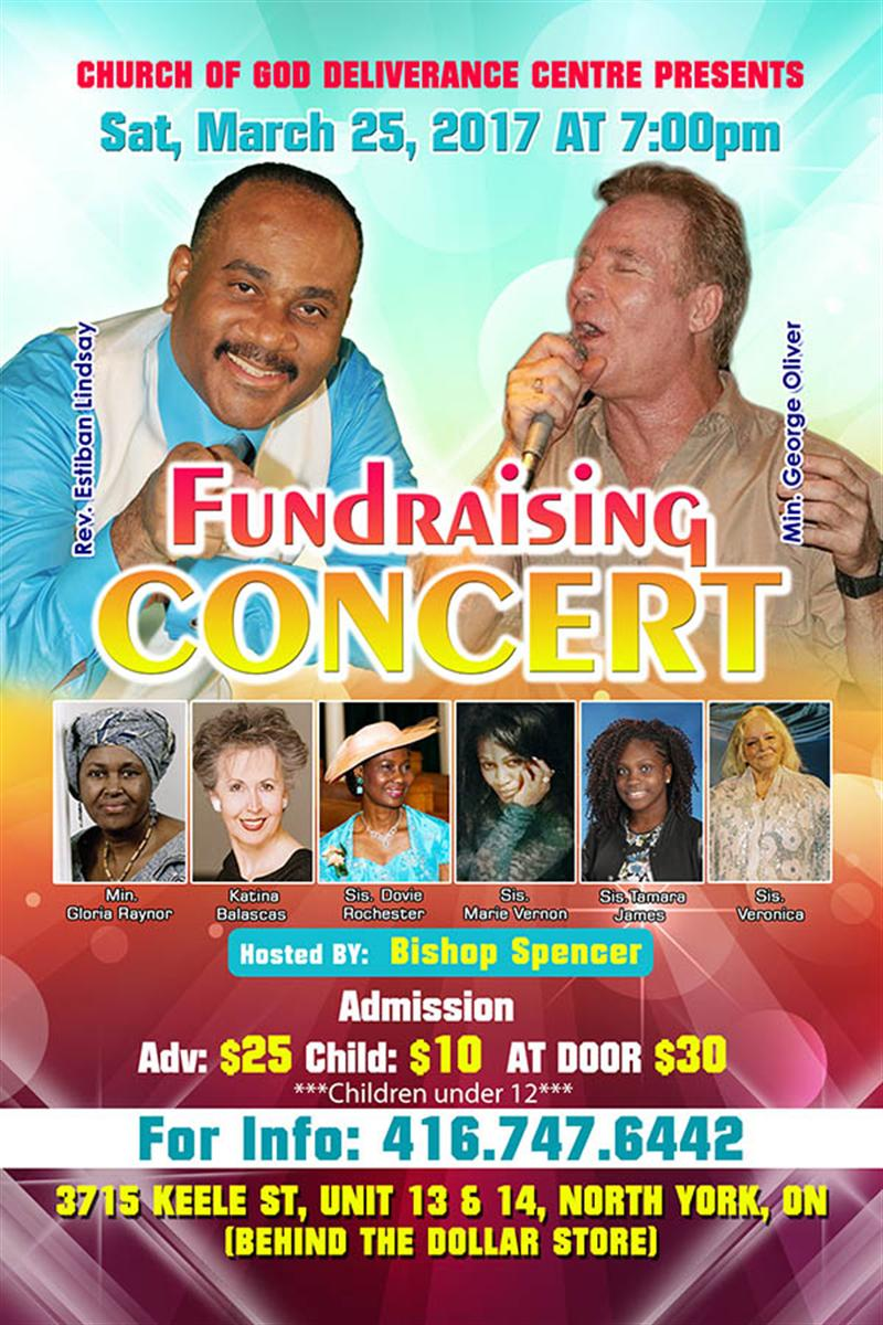 Fundraising Concert Saturday March 25 @7pm